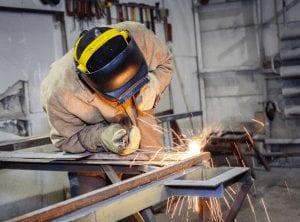 worker welding stead rest