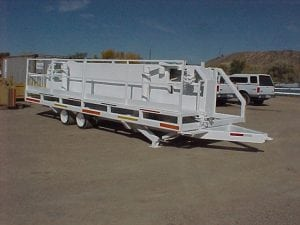 white pipe trailer