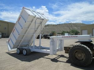 gooseneck dumb bed trailer