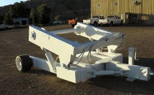 White conveyor belt winder side view