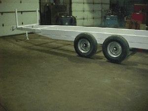 pipe trailer rear wheels