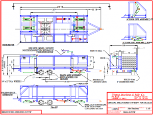 pipe trailer carrying and installing pipes diagram