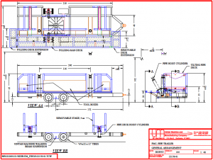 pipe trailer general arrangement diagram