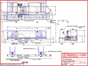 pipe trailer general arrangement diagram