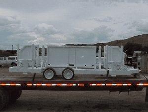 Pipe handling trailer