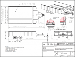 push plate trailer with side boards diagram