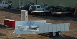 push out trailer front view