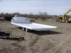 Roof can trailer