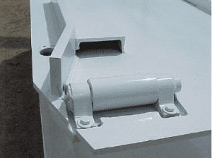 sliding pintle hitches, upper deck roller, and lower deck sheaves