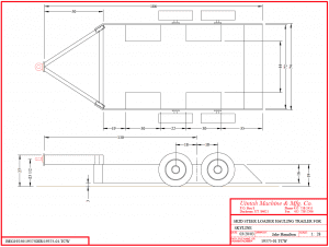 Skid steer loader trailer drawing
