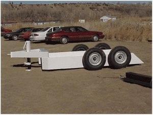 Skid steer loader trailer