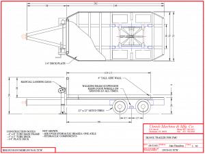 block trailer drawing