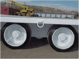 close up of heavy duty trailer