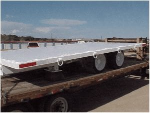 Single-ended sliding pintle hitch supply trailer