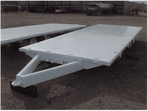 flat bed with pintle hitch