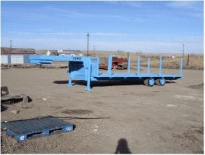 Two axle gooseneck trailer with stake pockets