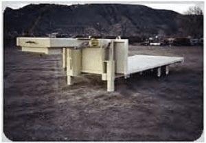 flatbed supply trailer
