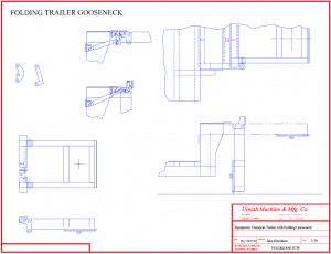 drawing of folding gooseneck trailer
