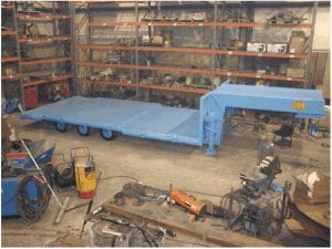 completed three axle trailer