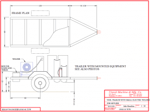 drawing of small tool trailer