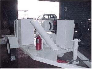 tool trailer with space for welder and torch bottles