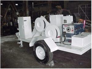 Rear quarter view of tool trailer