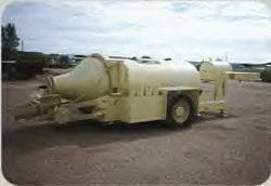 single axle concrete trailer