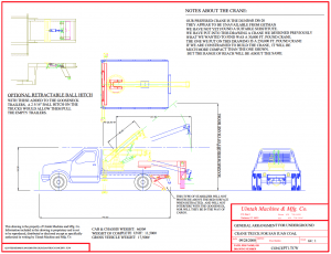 truck mounted crane plans