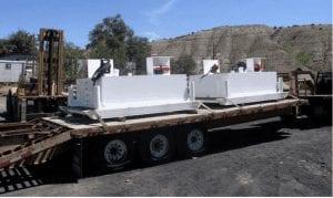 Fuel skid for refueling underground