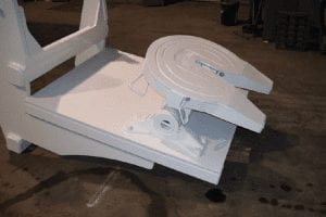 white machine part