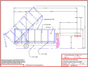 dump bed trailer diagram