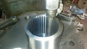 Internal splines on a shear plate type coupler