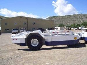 Shield hauler built on a repurposed Jeffrey RamCar