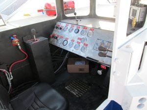 mining dump truck operator's compartment