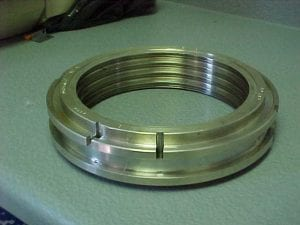 Split brass seal built for a boiler feed pump turbine
